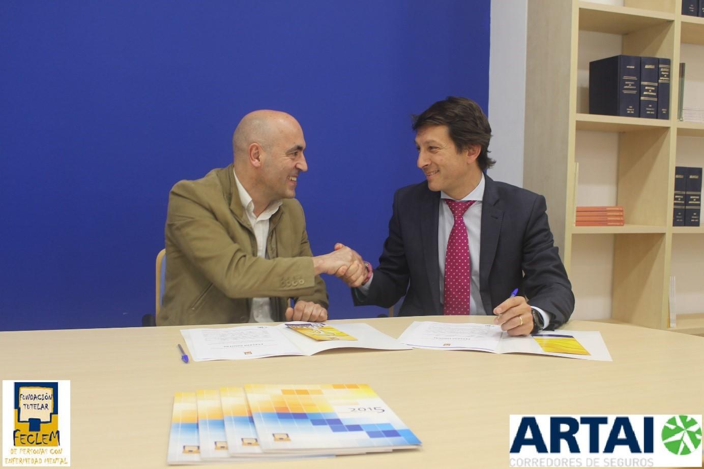 Artai renueva su convenio con Fundación Tutelar Feclem